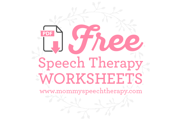 Speech Therapy Worksheets And Forms Mommy Speech Therapy