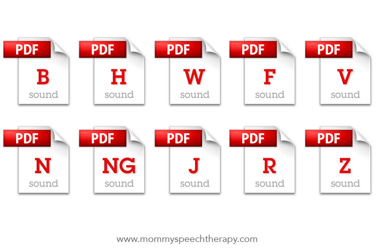 Download Speech therapy Worksheets - Mommy Speech Therapy