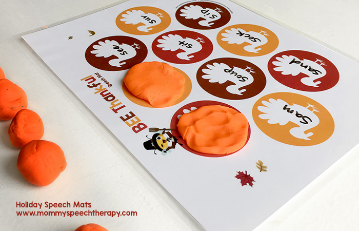 Free Holiday Speech Mats - Mommy Speech Therapy