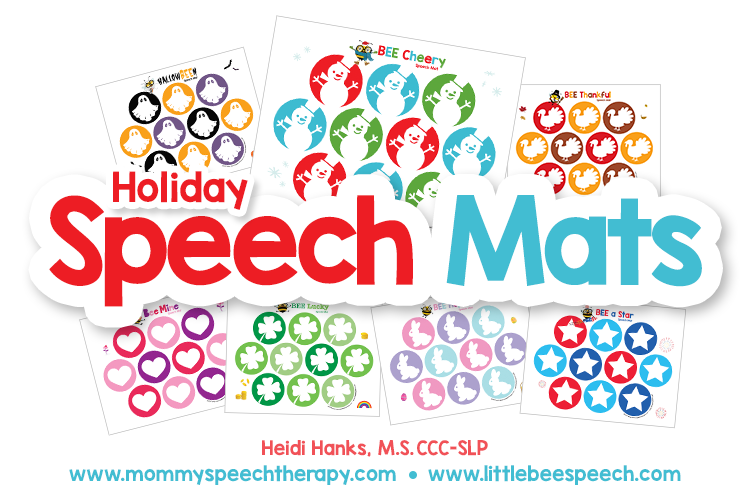 Free Holiday Speech Mats!
