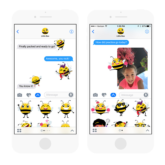 Sticker apps from Little Bee Speech