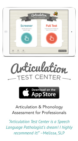 Articulation Test Center for iPad